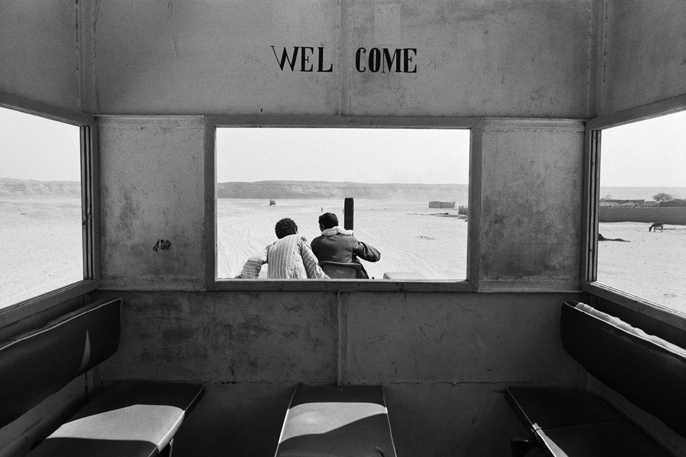 denis-roche 25 mars 1981. Tell-El-Amarna, Égypte